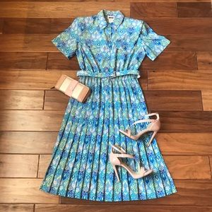 Vintage Leslie Fay Button Down Dress